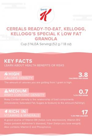 Cereals ready-to-eat, KELLOGG, KELLOGG'S SPECIAL K Low Fat Granola