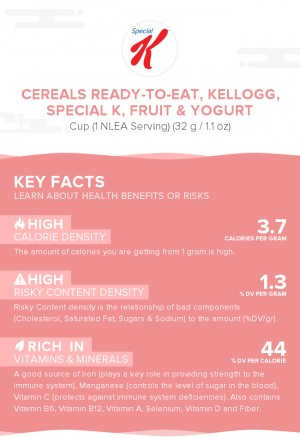 Cereals ready-to-eat, KELLOGG, SPECIAL K, Fruit & Yogurt