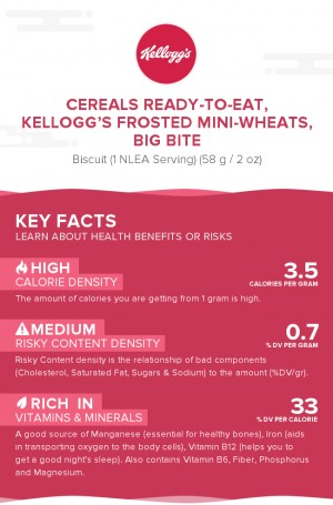 Cereals ready-to-eat, KELLOGG'S FROSTED MINI-WHEATS, Big Bite