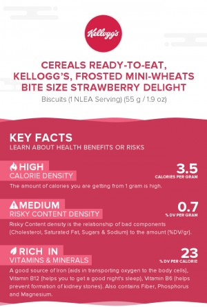 Cereals ready-to-eat, KELLOGG'S, FROSTED MINI-WHEATS Bite Size Strawberry Delight