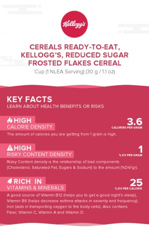 Cereals ready-to-eat, KELLOGG'S, Reduced Sugar Frosted Flakes Cereal
