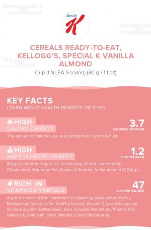 Cereals ready-to-eat, KELLOGG'S, SPECIAL K Vanilla Almond