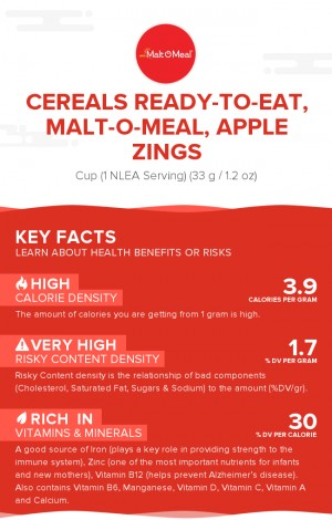 Cereals ready-to-eat, MALT-O-MEAL, Apple ZINGS