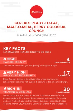 Cereals ready-to-eat, MALT-O-MEAL, BERRY COLOSSAL CRUNCH