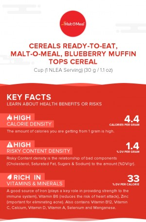 Cereals ready-to-eat, MALT-O-MEAL, Blueberry MUFFIN TOPS Cereal