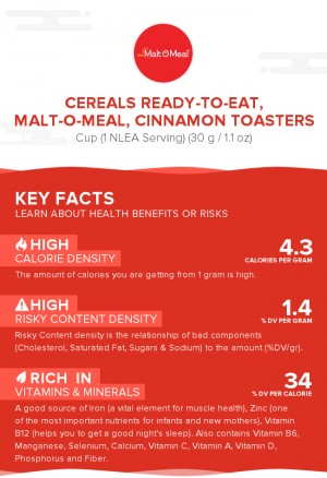Cereals ready-to-eat, MALT-O-MEAL, CINNAMON TOASTERS