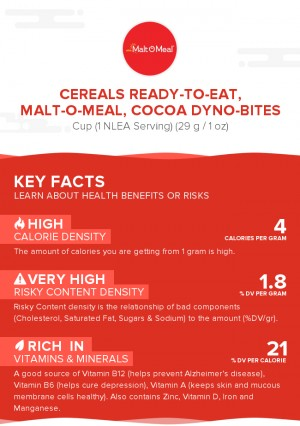 Cereals ready-to-eat, MALT-O-MEAL, Cocoa DYNO-BITES