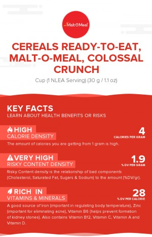 Cereals ready-to-eat, MALT-O-MEAL, COLOSSAL CRUNCH