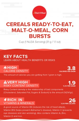 Cereals ready-to-eat, MALT-O-MEAL, CORN BURSTS