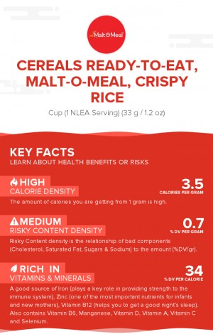 Cereals ready-to-eat, MALT-O-MEAL, Crispy Rice