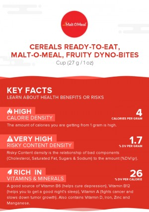 Cereals ready-to-eat, MALT-O-MEAL, Fruity DYNO-BITES