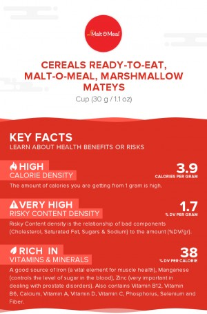 Cereals ready-to-eat, MALT-O-MEAL, MARSHMALLOW MATEYS