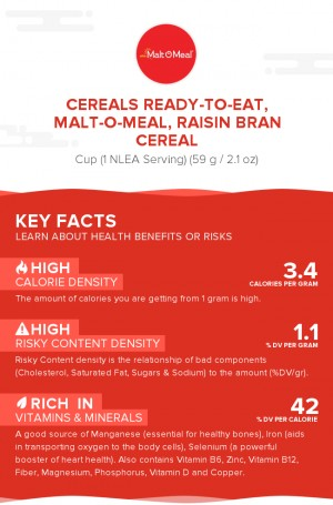 Cereals ready-to-eat, MALT-O-MEAL, Raisin Bran Cereal