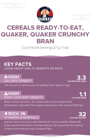Cereals ready-to-eat, QUAKER, QUAKER CRUNCHY BRAN