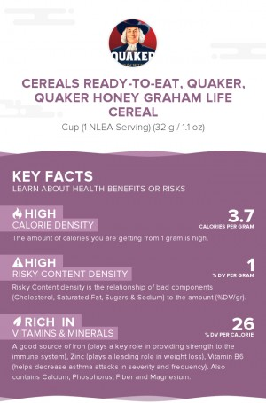 Cereals ready-to-eat, QUAKER, QUAKER Honey Graham LIFE Cereal