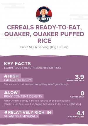 Cereals ready-to-eat, QUAKER, QUAKER Puffed Rice