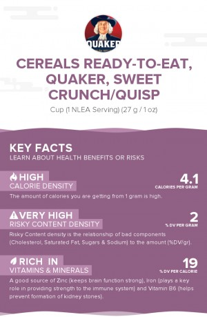 Cereals ready-to-eat, QUAKER, SWEET CRUNCH/QUISP