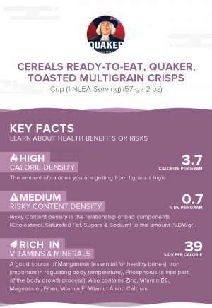 Cereals ready-to-eat, QUAKER, Toasted Multigrain Crisps