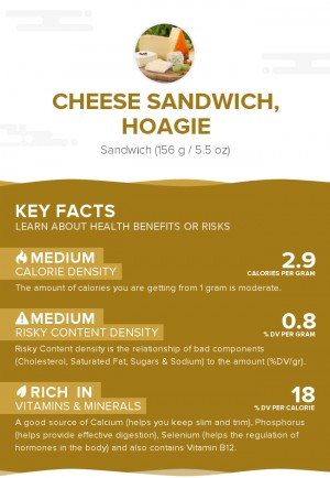 Cheese sandwich, hoagie