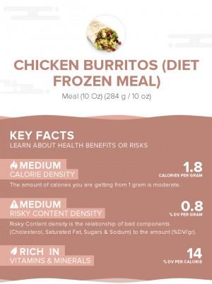 Chicken burritos (diet frozen meal)