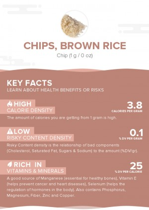 Chips, brown rice