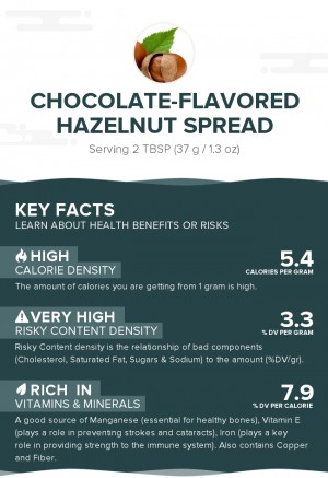 Chocolate-flavored hazelnut spread