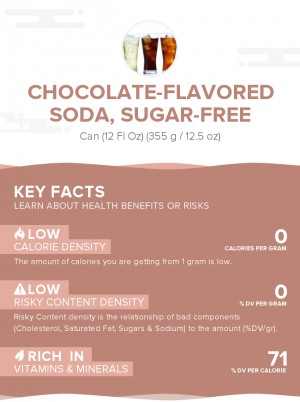 Chocolate-flavored soda, sugar-free