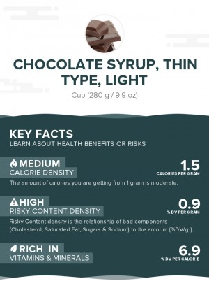 Chocolate syrup, thin type, light