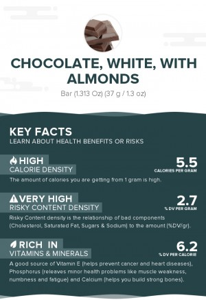 Chocolate, white, with almonds