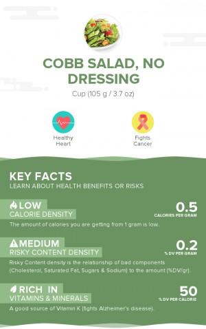 Cobb salad, no dressing