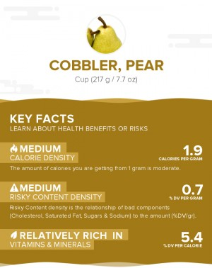 Cobbler, pear