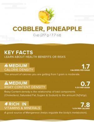 Cobbler, pineapple