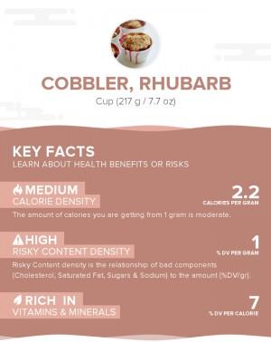 Cobbler, rhubarb