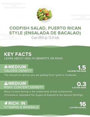 Codfish salad, Puerto Rican style (Ensalada de bacalao)