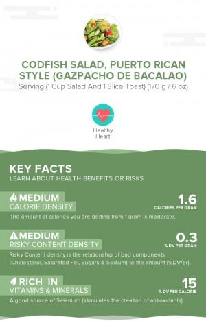 Codfish salad, Puerto Rican style (Gazpacho de bacalao)