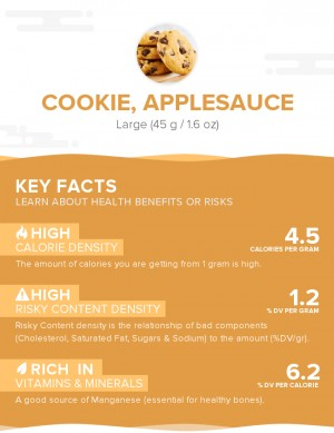 Cookie, applesauce