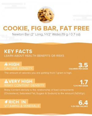 Cookie, fig bar, fat free
