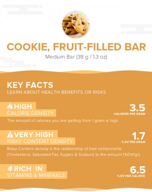 Cookie, fruit-filled bar
