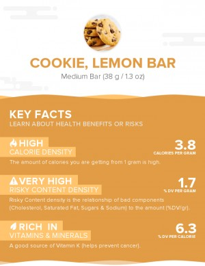 Cookie, lemon bar