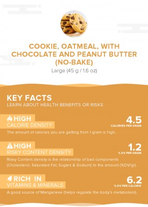 Cookie, oatmeal, with chocolate and peanut butter (no-bake)