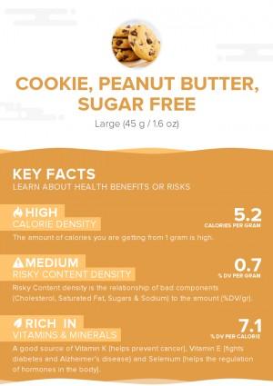 Cookie, peanut butter, sugar free