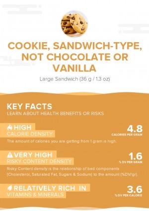 Cookie, sandwich-type, not chocolate or vanilla