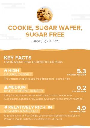 Cookie, sugar wafer, sugar free