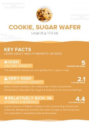 Cookie, sugar wafer