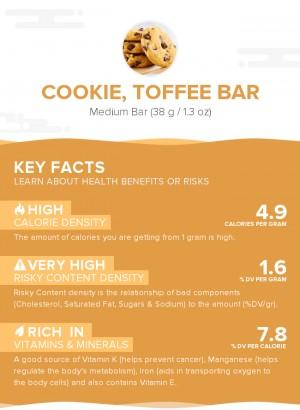 Cookie, toffee bar