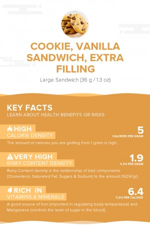 Cookie, vanilla sandwich, extra filling