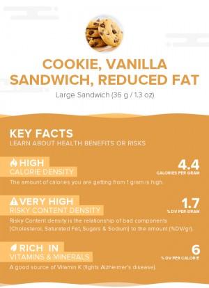 Cookie, vanilla sandwich, reduced fat