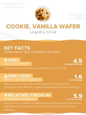 Cookie, vanilla wafer