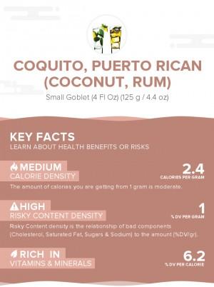 Coquito, Puerto Rican (coconut, rum)