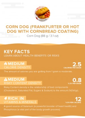 Corn dog (frankfurter or hot dog with cornbread coating)